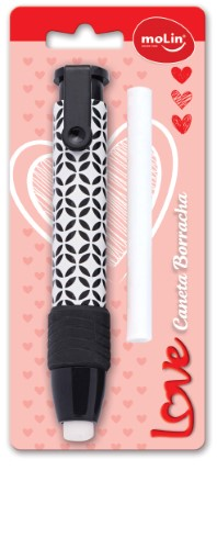 CANETA BORRACHA LOVE BLACK AND WHITE