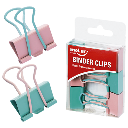 BINDER CLIPS SOFT TOUCH 25mm