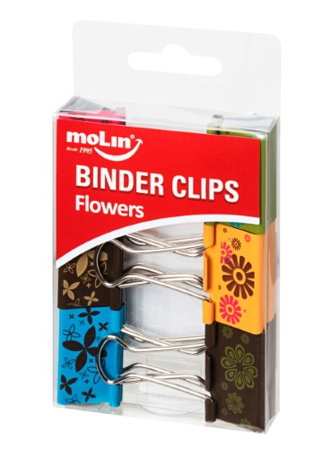 BINDER CLIPS FLOWERS 32mm