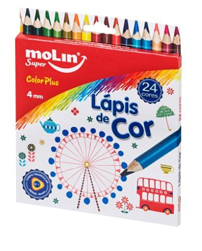 LÁPIS DE COR COLOR PLUS TRIANGULAR 4 mm