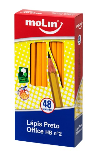 LÁPIS PRETO HB N° 2 OFFICE YELLOW